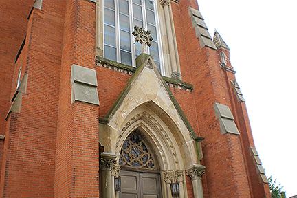 Fremont Church Sandstone repair and restoration North Elevation