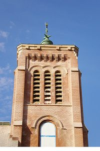 St Joseph Church tower was a restoration project for Great Lakes Concrete