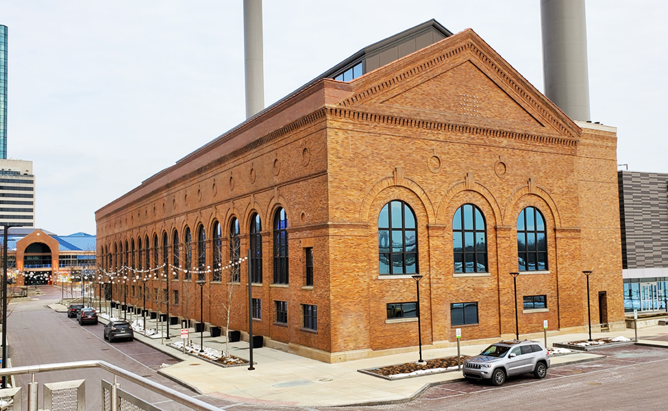 Great Lakes Concrete historic restoration project Downtown Toledo steam plant for Promedica