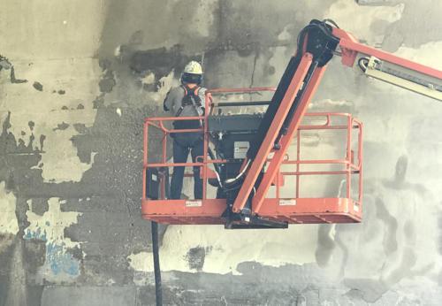 Great Lakes Concrete Restoration MLK Bridge eco blasting Toledo