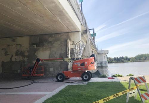 Great Lakes Concrete Restoration MLK Bridge concrete coating project
