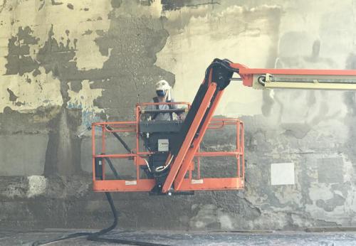 Great Lakes Concrete Restoration MLK Bridge concrete coating