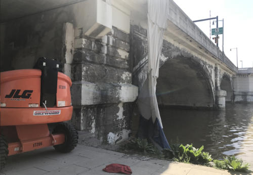 Great Lakes Concrete Restoration MLK Bridge river edge level bridge eco blasting