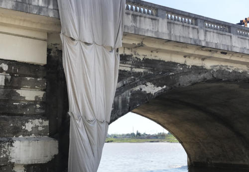 Great Lakes Concrete Restoration MLK Bridge river edge before view