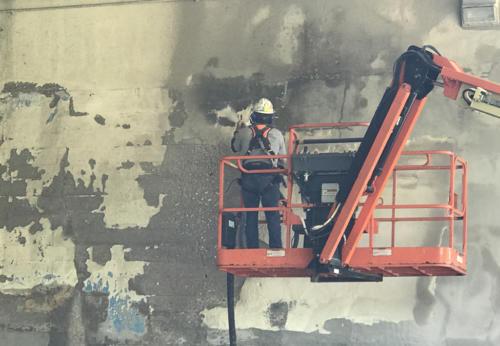 Great Lakes Concrete Restoration MLK Bridge specialty dustless power blasting