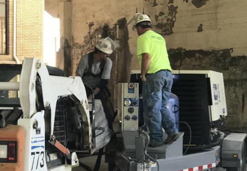 Great Lakes Concrete Restoration MLK Bridge eco blasting preparation