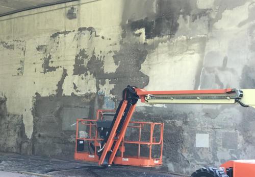 Great Lakes Concrete Restoration MLK Bridge surface eco blasting 2021