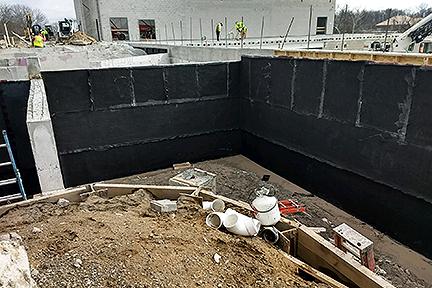 GLCR Below grade waterproofing Rossford basement sealant