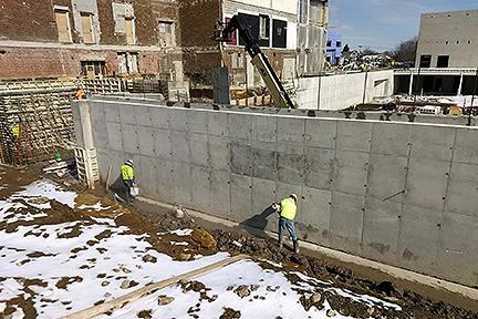 GLCR Below grade waterproofing Rossford construction site