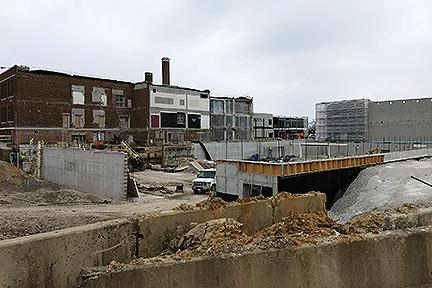 GLCR Below grade waterproofing Rossford construction zone