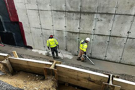 GLCR Below grade waterproofing Rossford foundation drying