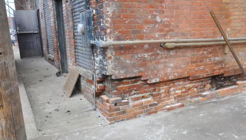 Great Lakes Concrete Monroe Downtown Toledo Building brick wall foundation repair