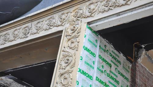Great Lakes Concrete Monroe Downtown Toledo Building cornace and detail restoration