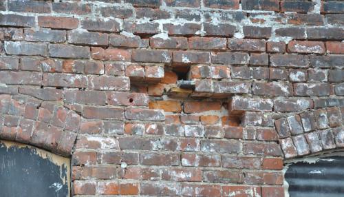 Great Lakes Concrete Restoration Monroe St Downtown Toledo Building brick replacement restoration