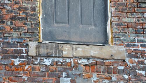 Great Lakes Concrete Restoration Monroe St Downtown Toledo Building door threshold restoration