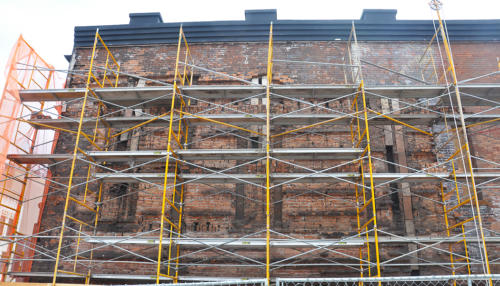 Great Lakes Concrete Restoration Monroe St Downtown Toledo Building wall repair