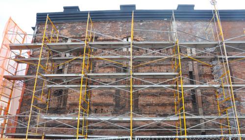 Great Lakes Concrete Restoration Monroe St Downtown Toledo Building wall repair (1)