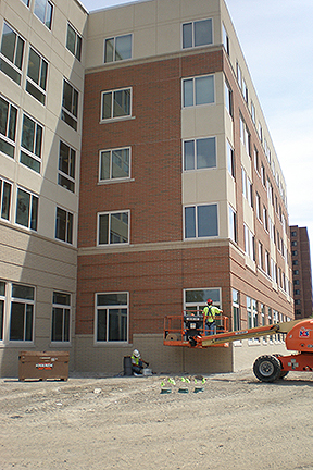 New Construction Caulking BGSU building