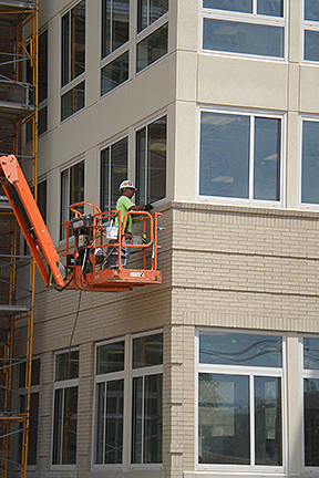 New Construction Caulking BGSU building 3